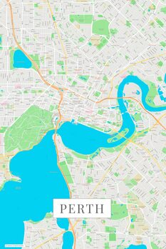 Map of Perth color