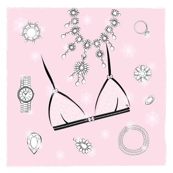 Illustration Pink Bra