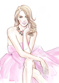 Illustration Pink lightness