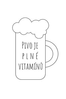 Illustration Pivo=vitamíny