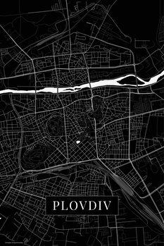 Map Plovdiv black