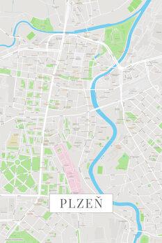 Map Plzen color