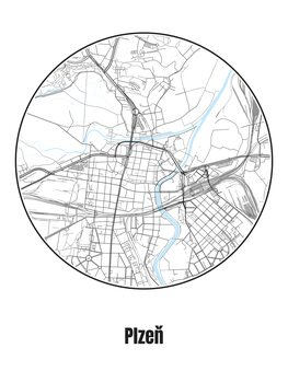 Map of Plzeň
