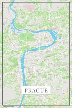 Map of Prague color