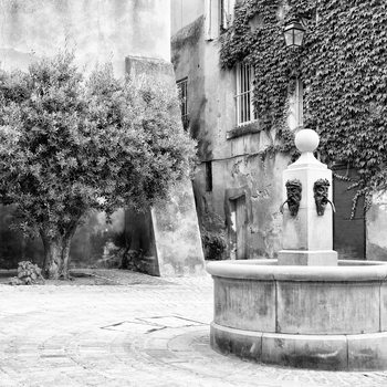 Art Print on Demand Provencal Place B&W