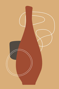 Illustration red bottle