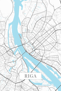 Map Riga white