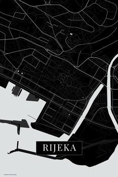 Map of Rijeka balck