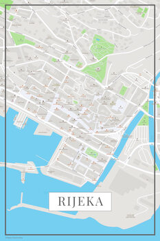 Map of Rijeka color