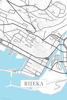 Map of Rijeka white