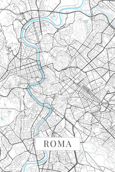 Map of Roma white