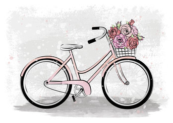 Illustration Romantic Bike