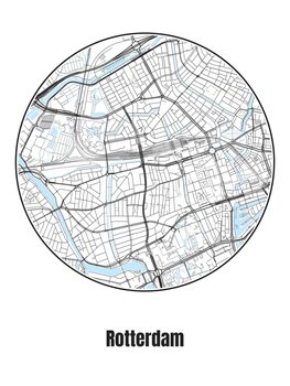 Map of Rotterdam