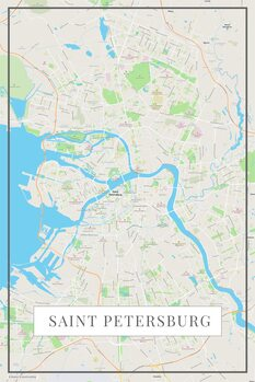 Map of Saint Petersburg color