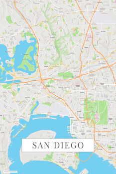 Map San Diego color