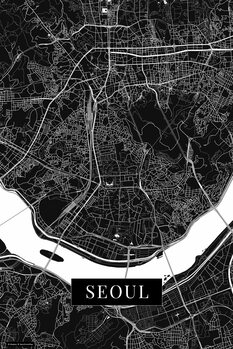 Map of Seoul black