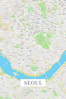 Map of Seoul color