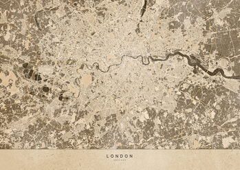 Map Sepia vintage map of London