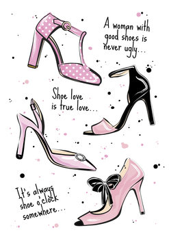 Illustration Shoe quote