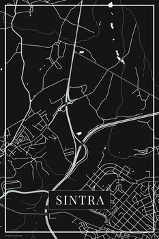 Map of Sintra black