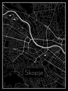 Map of Skopje