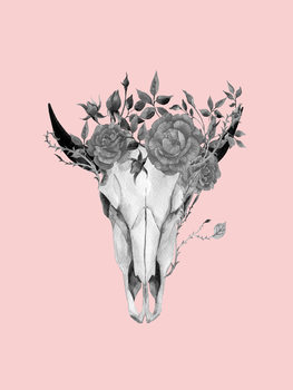 Illustration skullheadpink