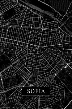 Map of Sofia black