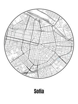 Map of Sofia