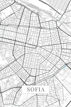 Map of Sofia white