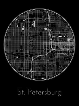Map of St. Petersburg