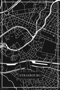 Map Strasbourg black