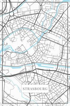 Map Strasbourg white
