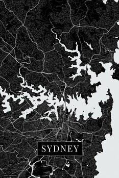 Map of Sydney black