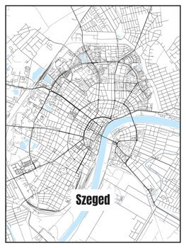 Map of Szeged