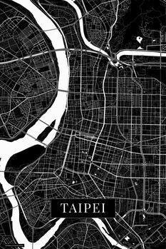 Map of Taipei black