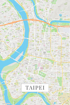 Map of Taipei color