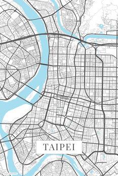 Map of Taipei white