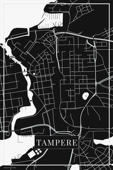 Map of Tampere black