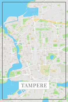 Map of Tampere color