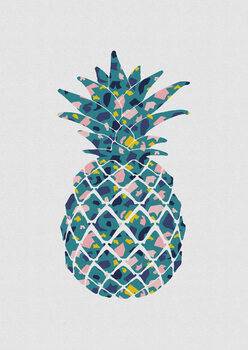 Illustration Teal Pineapple