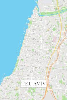 Map Tel Aviv color