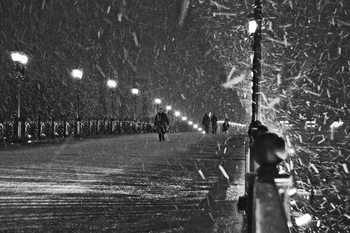 Art Print on Demand The Moscow blizzard