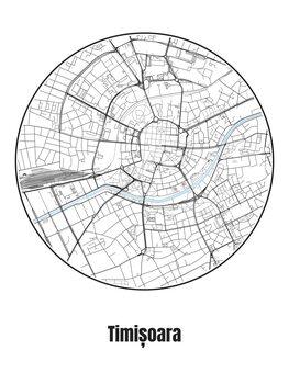 Map of Timișoara