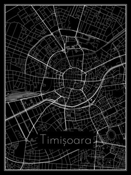 Map of Timișoara