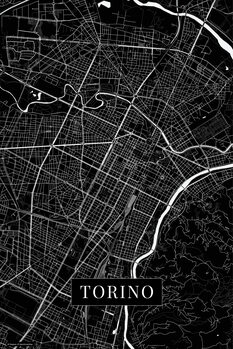 Map of Torino black