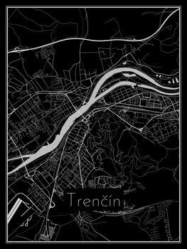 Map of Trenčín