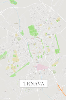 Map of Trnava color