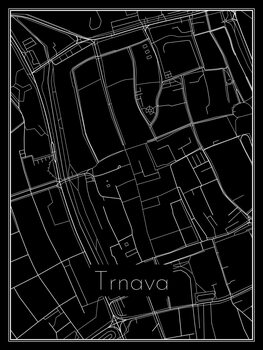 Map of Trnava