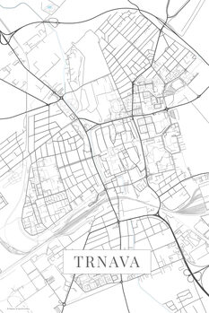 Map of Trnava white