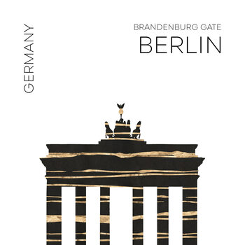 Illustration Urban Art BERLIN Brandenburg Gate